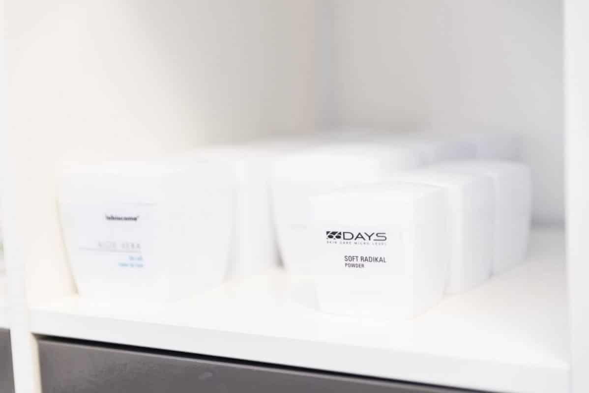 Einer unserer Kosmetiklinien Tolle Pflegeprodukte